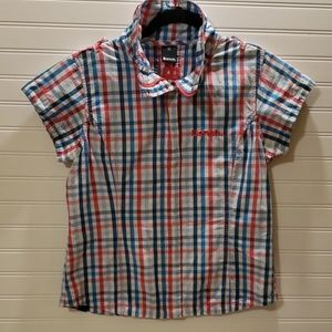 5 for $25 Bench Plaid Zip and Snap Blouse